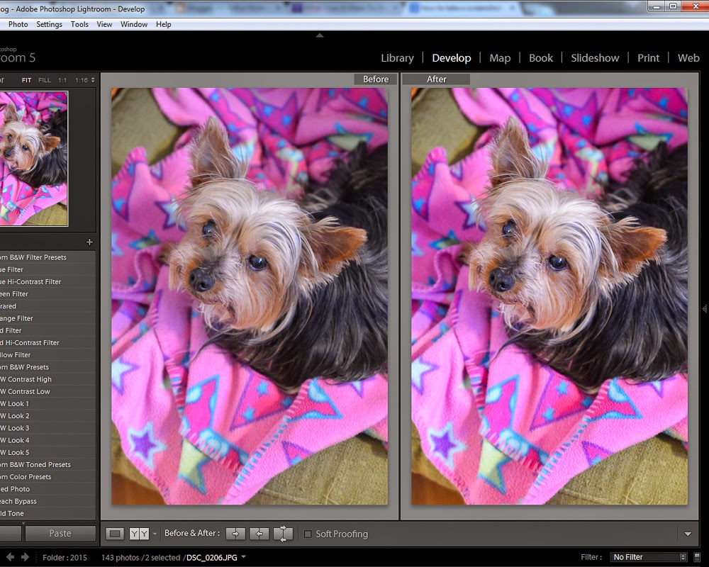photo editing with lightroom