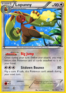 Lopunny Flashfire Pokemon Card