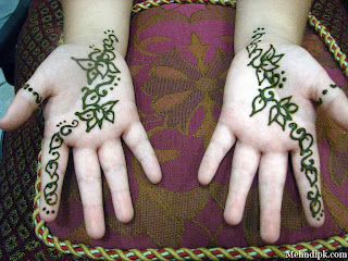 Eid kids mehndi designs