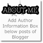 How to Add Author Info box below posts in Blogger