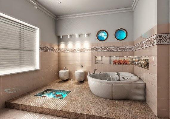 contoh design ubin keramik kamar mandi mungil 2013 2014