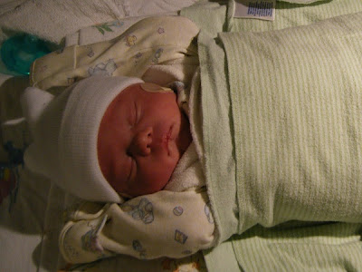 Spencer in Sleepsack in NICU