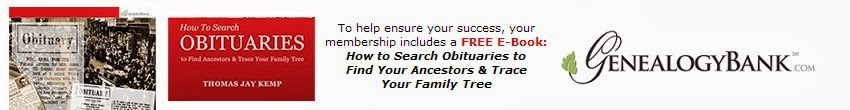 Offer for New GenealogyBank Subscribers