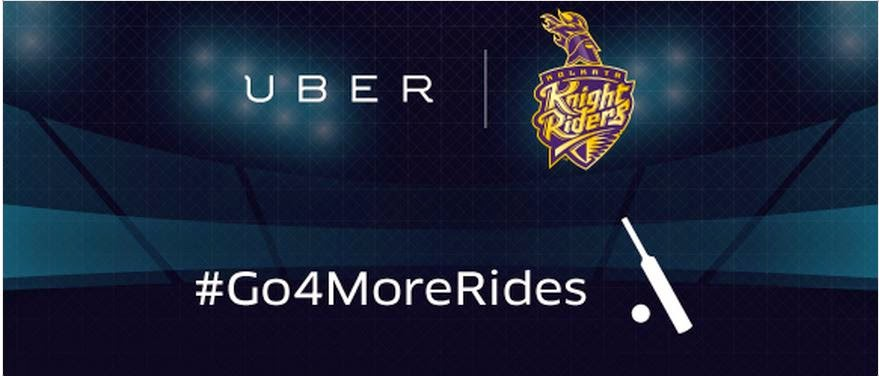 Get KKR match ticket marchandise and uber credits when you ride with uber in kolkata
