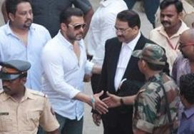 Salman Khan outside a court