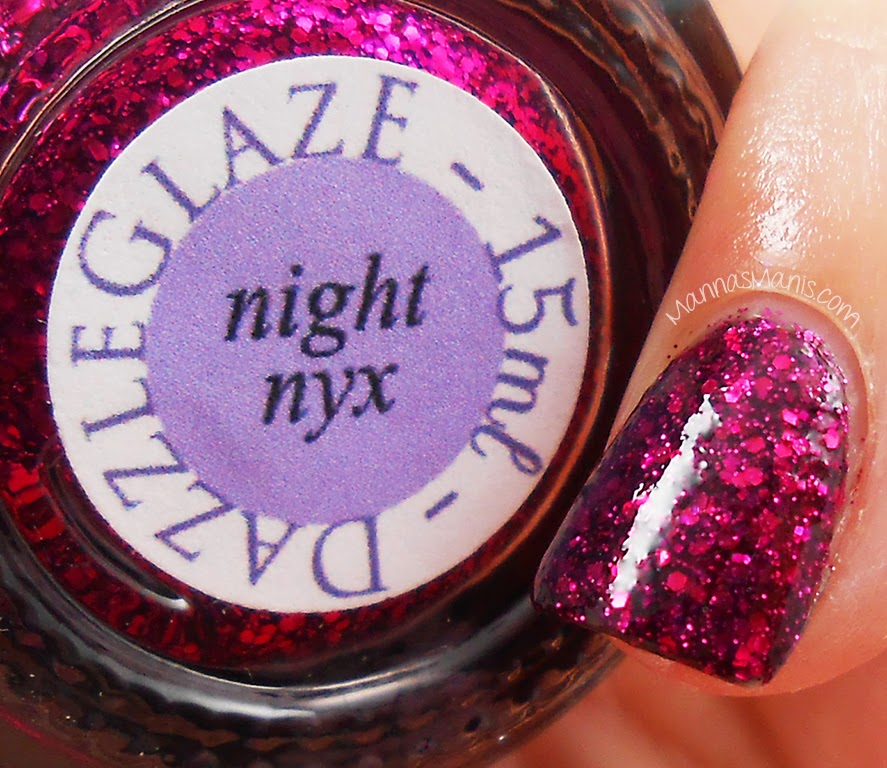 indie nail polish dazzle glaze night nyx