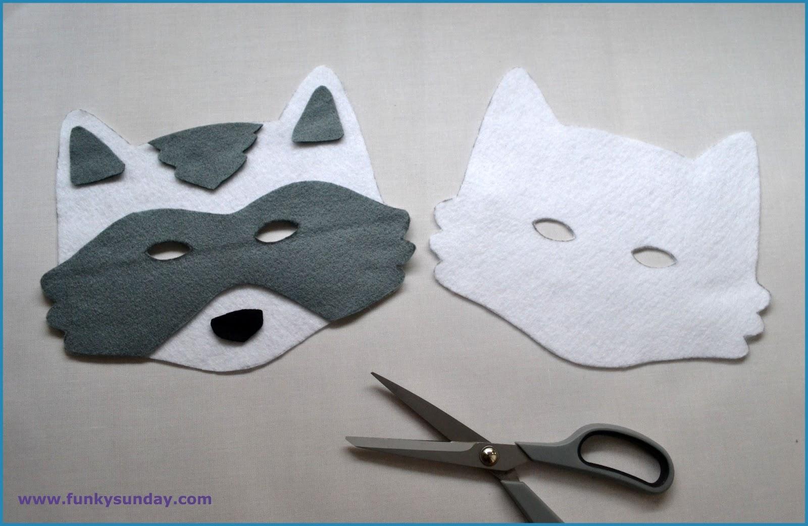 Funky sunday diy le masque de carnaval raton laveur - Comment faire un masque en papier ...