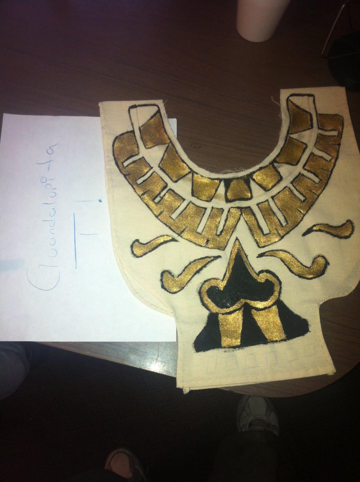 Aztecas, hice una parte de su vestuario..Y te la Muestro