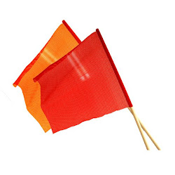 Safety Flag w/ Wooden Dowels - Red