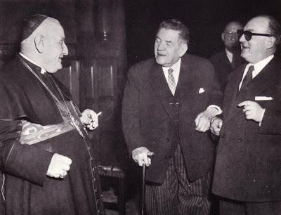 Aggiornando la Iglesia al Mundo como Patriarca de Venecia: Monseñor Roncalli con Édouard Herriot, Presidente del Partido Radical-Socialista y de la Asamblea Nacional Francesa durante la IV República, en 1954