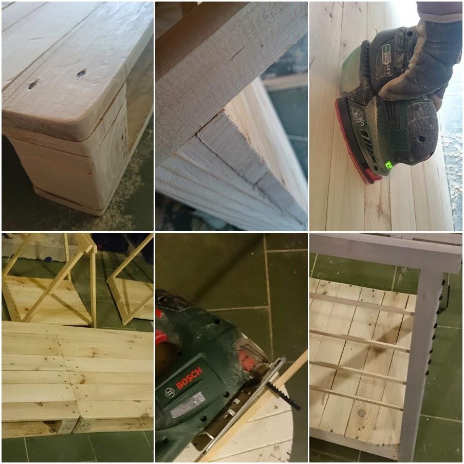 szlifowanie drewna w warunkach domowych,krok po kroku biurko z palet,tutorial DIY biurko drewniane,blog DIY blog z tutorialami,blog o majsterkowaniu,kobieta majsterkuje