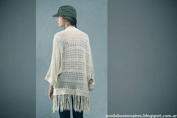 Moda invierno 2015 Doll Store kimonos tejidos.