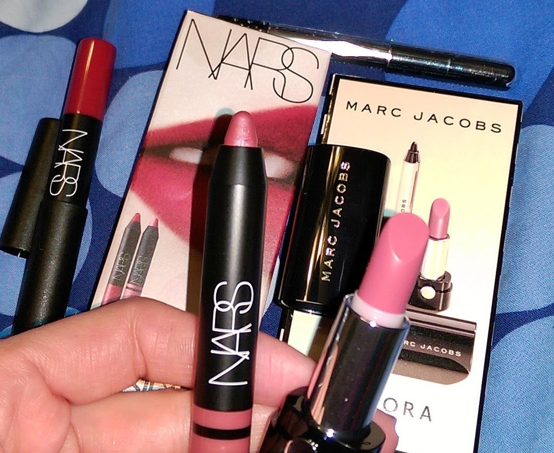Sephora Birthday Gifts NARS 2015 VS Marc Jacobs 2016 Kiss Bang Lipstick Beauty Set Review