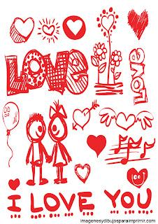 enamorados para imprimir