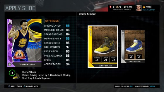 NBA 2k16 MyTeam Cards
