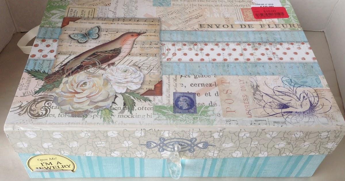 Craft room secrets filofax supplies storage box for Tj maxx jewelry box