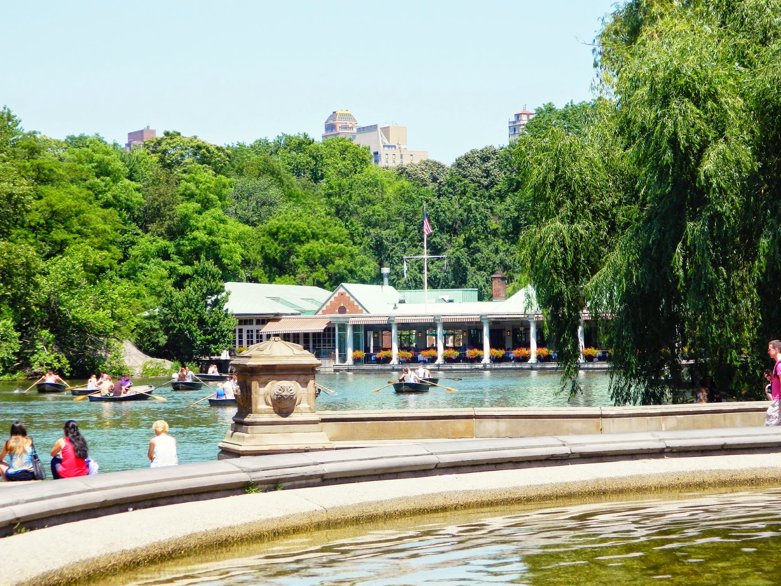 new york city central park lake boats