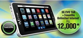 PTCL 3G Evo Tab