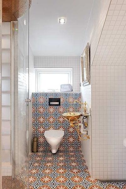 Studio karin marockanskt betongkakel for Marrakech bathroom design