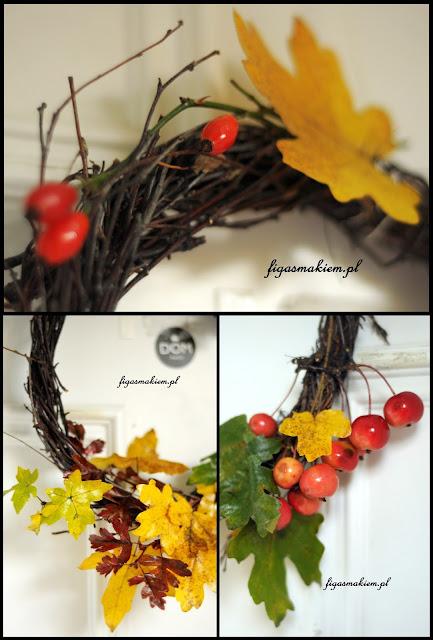 jesienny wianek na drzwi DIY