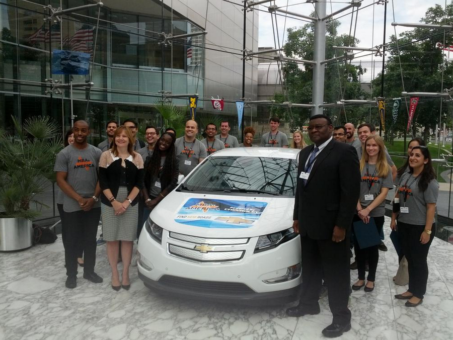 Chevy Volts Transport MBA Students Across the Chevy Volts to Transport MBA Students Across the Country for MBAxAmerica Program