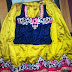 Yellow and Blue Embroidered Lehenga