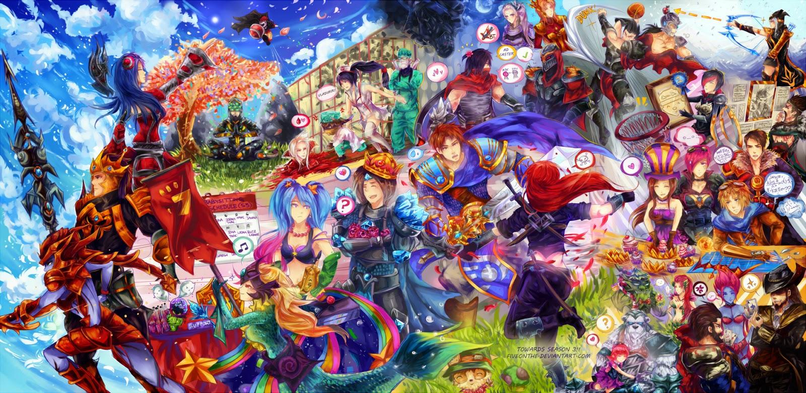 Hình ảnh LOL game liên minh huyền thoại làm hình nền đẹp