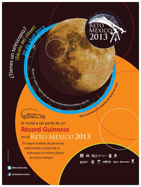 Reto México 2013: Todos mirando hacia La Luna este 20 de abril