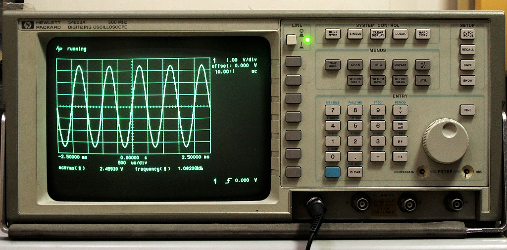 Hp Digital Oscilloscope : Hp a mhz digitizing oscilloscope misadventures