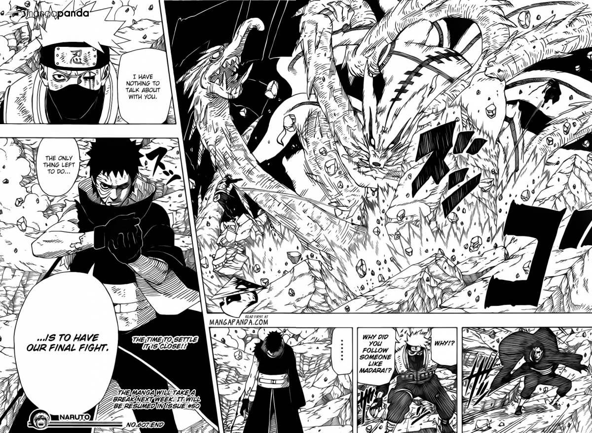 Komik Naruto 607 Bahasa Indonesia 608  klik gambar untuk memperbesar Obito Vs Kakashi Manga