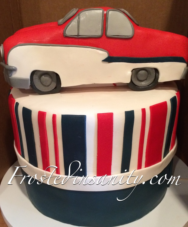 Frosted Insanity Classic Car Cake