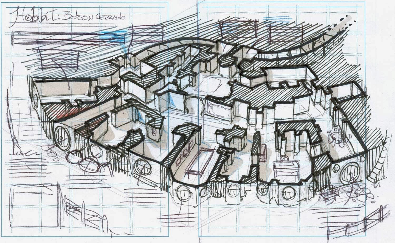 La biblioteca de bilbo bolson planos casas hobbit - La casa de los hobbits ...