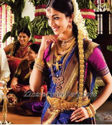 tamilnadu tamil bride showcasing gold beaded multi strings long