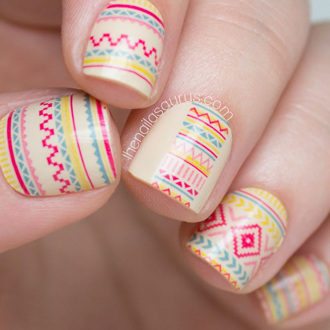 Incoco Desert Sunset: Tribal Nail Art Wraps - The Nailasaurus | UK Nail Art Blog