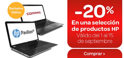 20 descuento en portátiles y PCs de sobremesa HP en Carrefour Online