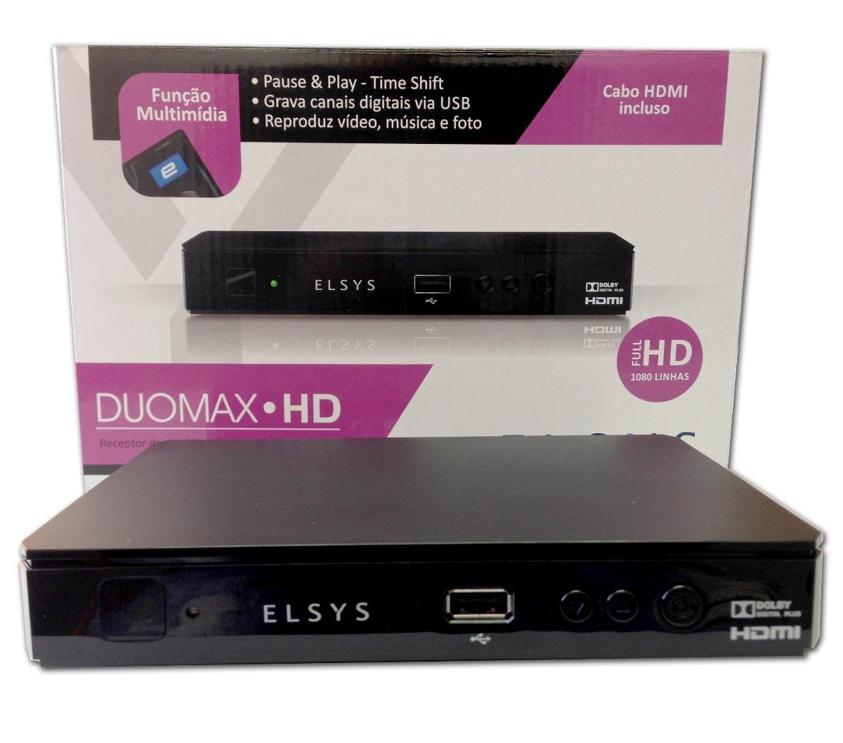 Receptor Elsys Duomax Analógico, Digital HD