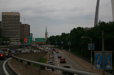 St. Louis traffic, The Arch, Highway 55, Memorial Drive