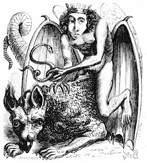Astaroth, ilustracion del Dictionnaire Infernal
