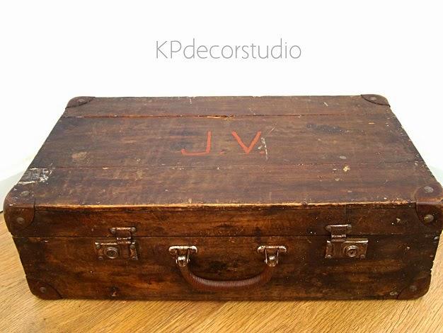 Kp tienda vintage online maleta de madera antigua ref for Maletas antiguas online