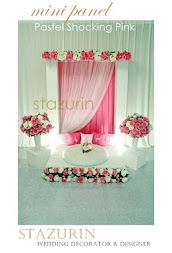 Pelamin Pernikahan/Solemnization Dais Engagement/Pertunangan PELAMIN MINI PANEL Warna SHOCKing pink