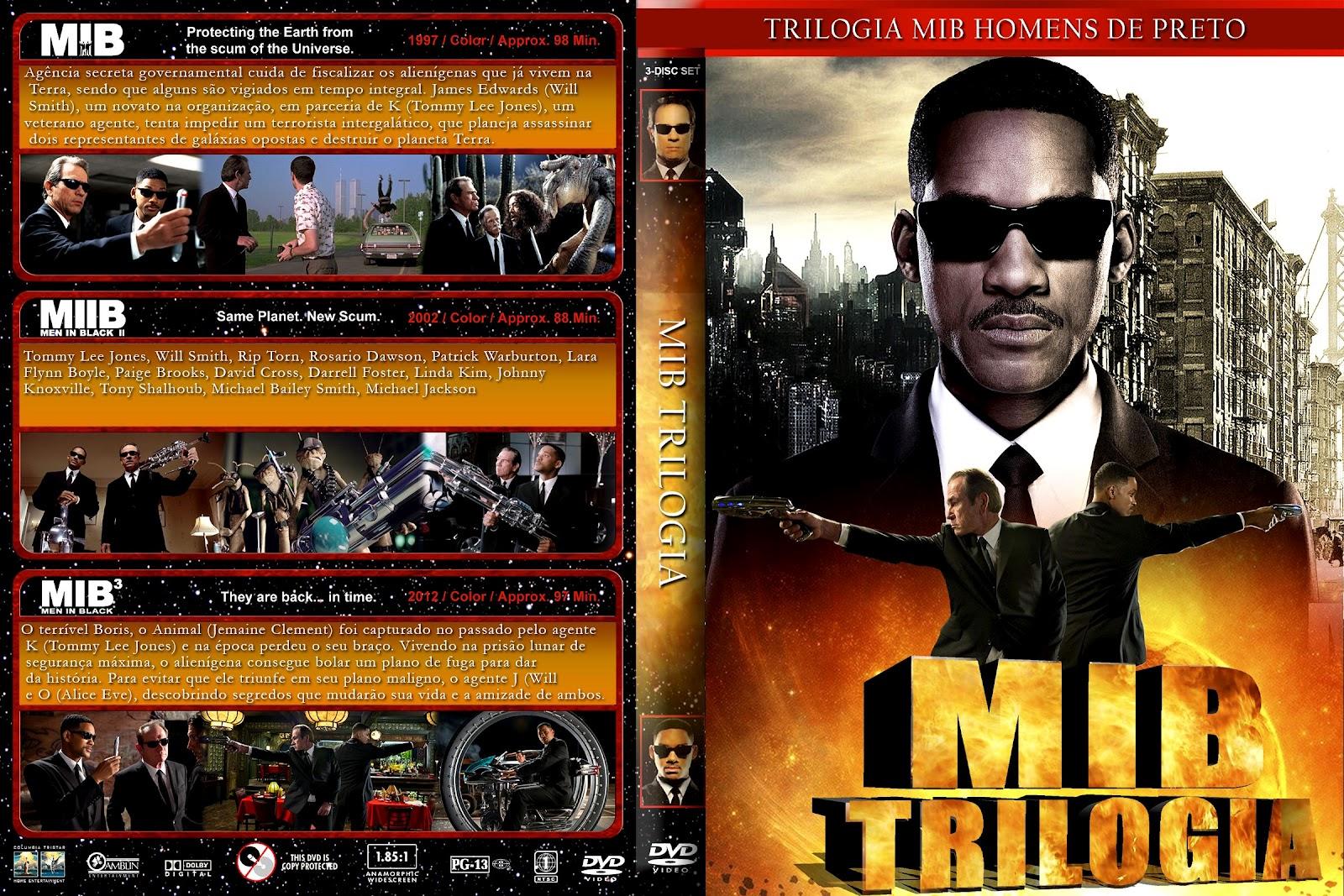Trilogia MIB Homens de Preto DVDRip XviD Dual Áudio Trilogia Mib