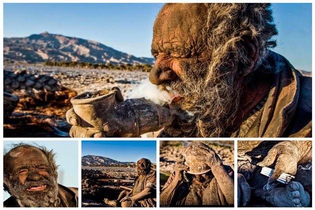Amoo Hadji, Orang Yang Tidak Pernah Mandi Selama 60 Tahun