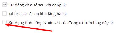 Sử dụng tính năng Nhận xét của Google+