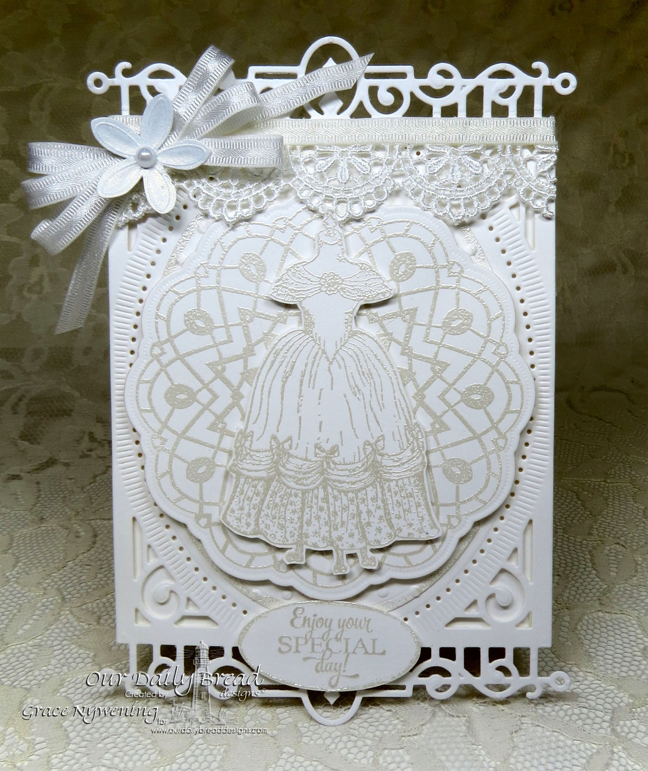 Stamps - Our Daily Bread Designs Victoria, Birthday Doily, Doily Blessings, ODBD Custom Doily Die