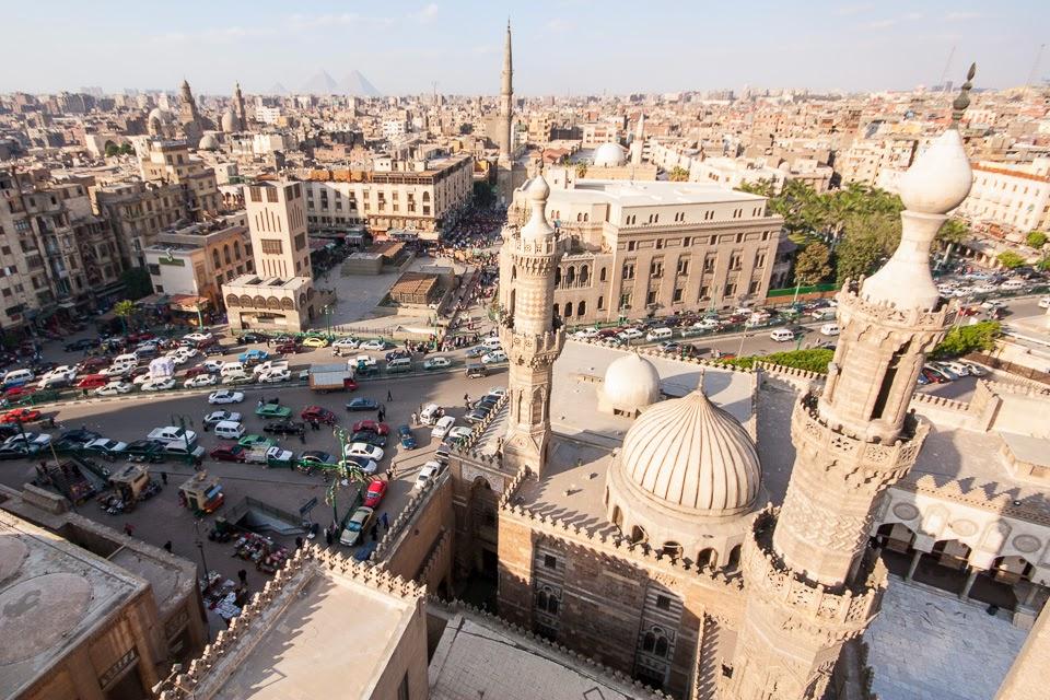 Kairó az al-Azhar mecset minaretjéből