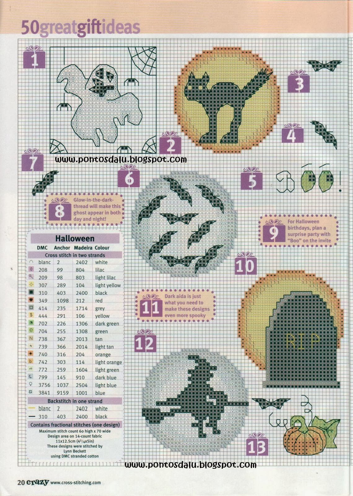 Halloween Tree Cross Stitch Pattern 61
