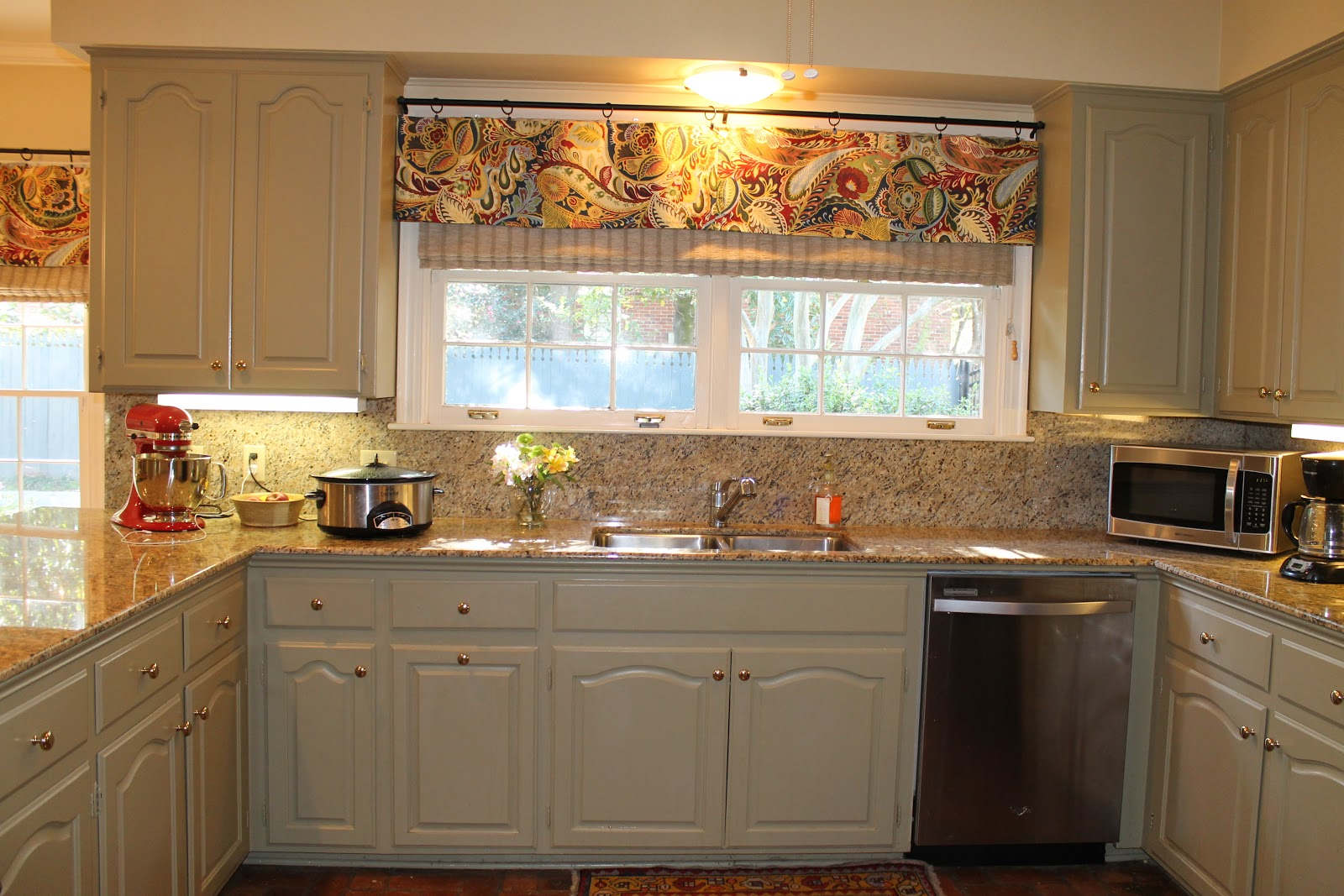 For The Window Above The Kitchen Sink I Made The Valance Shorter