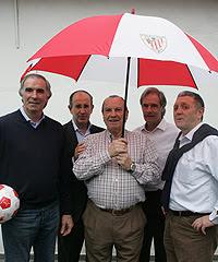 Cinco leyendas del Athletic Club: Iribar, Irureta, Koldo Aguirre, Txetxu Rojo y Lasa