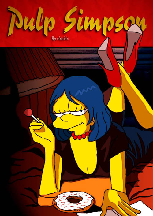 posters cinema simpsons - Pulp Fiction