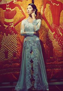 Model Terbaru Gaun Kebaya Modern